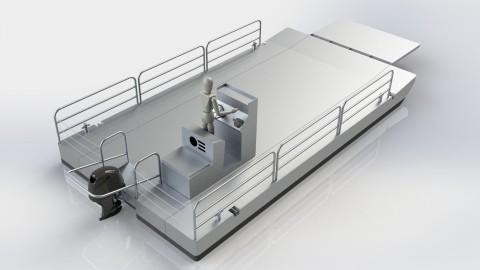 Dismountable barge 750